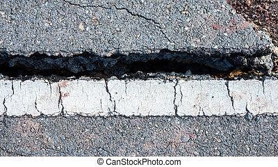 交通, ライン, 旅行中に, ある, ある, 破壊された, によって, a, 地すべり