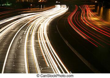交通, 夜で