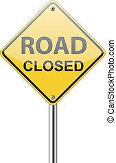 交通, 道は 印を 閉めた
