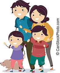 交雑街路, stickman, 家族