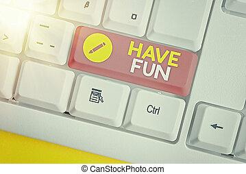 享乐, 概念性, 手, fun., 照片, 正文, 本身, 任务, 作品, amusement., 商业, 提供, 有...