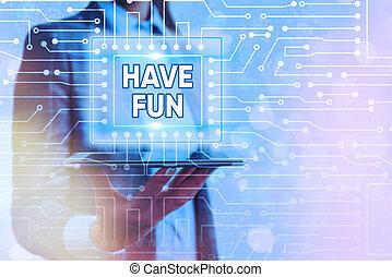 享乐, 概念性, 手, showcasing, fun., 照片, 本身, 任务, 作品, amusement., 商业...