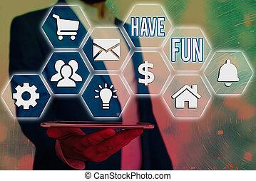 享乐, 概念, 本身, 正文, fun., 任务, 作品, amusement., 提供, 笔迹, 意思, 有