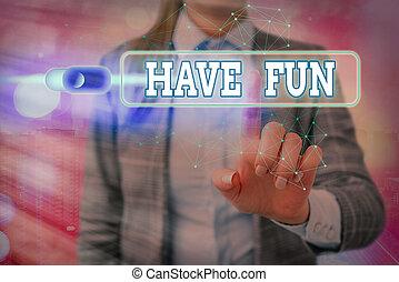 享乐, 概念, fun., 正文, 词汇, 本身, 任务, 作品, amusement., 商业, 提供, 有
