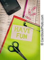 享乐, 铅笔, 被单, 签署, 夹子, 剪贴板, 照片, 正文, 娱乐, smartphone, 提供, 背景。, 显示...
