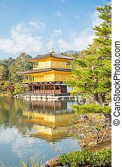 京都, kinkakuji, 寺院