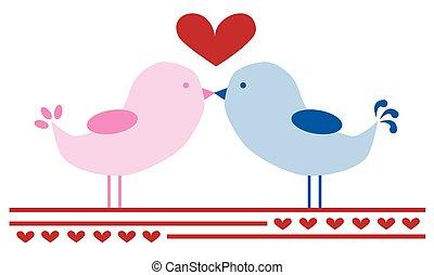 亲吻, 爱鸟