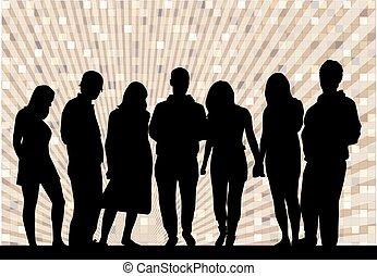 人々のグループ