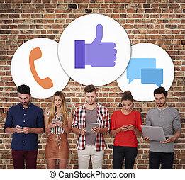 人々のグループ, 社会, ネットワーキング