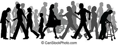 人々の 歩くこと