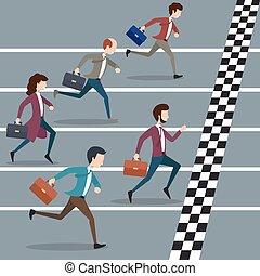 人々ビジネス, マラソン, 勝利