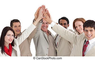 人々ビジネス, 提示, 多民族, positivety