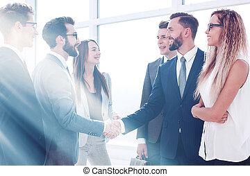 人々ビジネス, 握手, オフィスの 会合