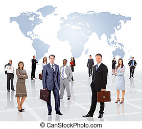 人々ビジネス, 若い, -, チーム, 魅力的, エリート