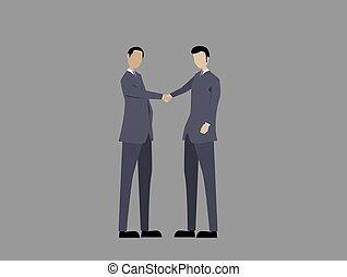 人々, ∥あるいは∥, 手, 2, 握手, ビジネス, 振動