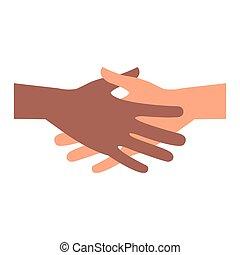 人々, インターナショナル, 握手, ビジネス