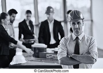 人々, エンジニア, ミーティング, ビジネス