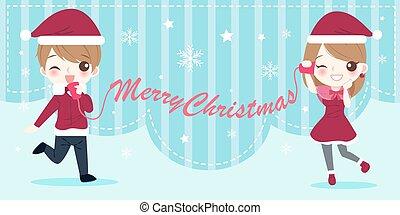 人々, クリスマス, 漫画