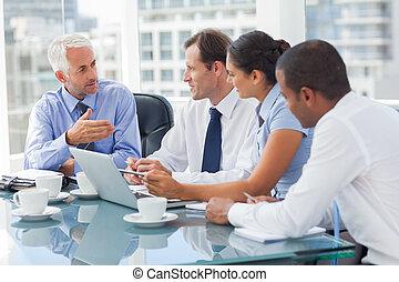 人々, グループ, ひらめき, ビジネス