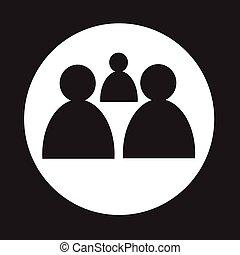 人々, グループ, アイコン