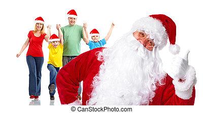 人々。, グループ, クリスマス, 幸せ, santa