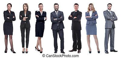 人々, グループ, 地位, 成功した, ビジネス, row.