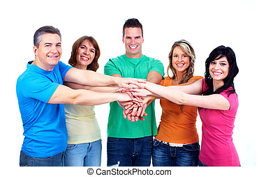 人々。, グループ, 幸せ