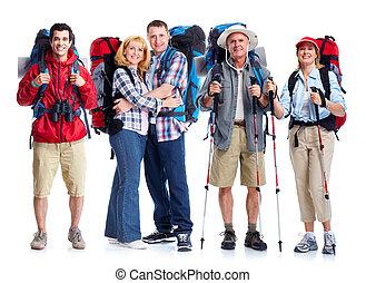 人々。, グループ, 観光客