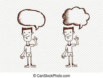 人々, スピーチ泡, 対話