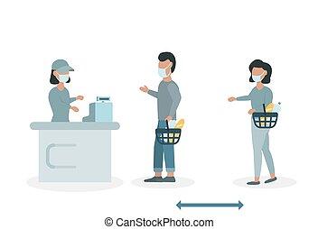 人々, スーパーマーケット, ∥(彼・それ)ら∥, たくわえ, 距離