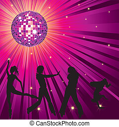 人々, ダンス, 中に, night-club