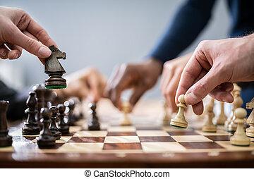 人々, チェス, ビジネス, 遊び