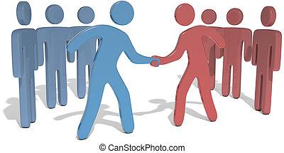 人々, チーム, リーダー, リーチ, 合意