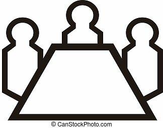 人々, テーブル, 3