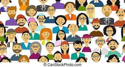 人々, デザイン, グループ, あなたの, 背景