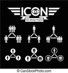 人々, ネットワーク, アイコン