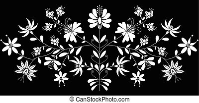 人々, パターン, ヨーロッパ, 花