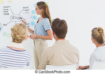 人々, プレゼンテーション, ビジネス臨時雇い, オフィス