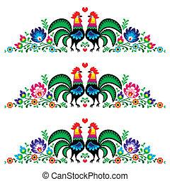 人々, ポーランド語, 花, 刺繍, 長い間