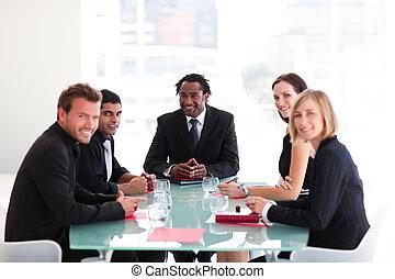 人々, ミーティング, ビジネス