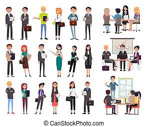 人々, ミーティング, ビジネス セミナー, サラリーマン