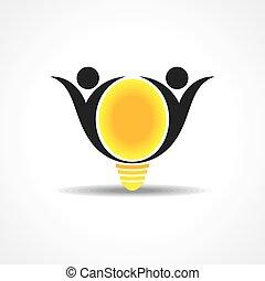 人々, ライト, &, ベクトル, アイコン, 幸せ
