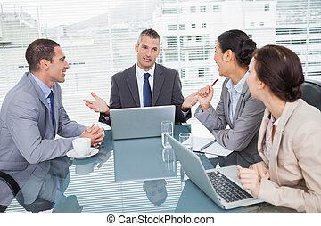 人々, ラップトップ, ∥(彼・それ)ら∥, ビジネス, 一緒に働く
