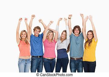 人々, 上げられた手, ∥(彼・それ)ら∥, グループ