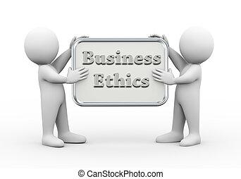 人々, 保有物, 板, 倫理, 3d, ビジネス
