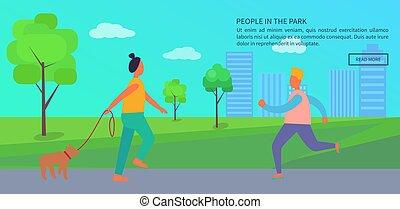 人々, 出費, ポスター, 時間, 公園, テキスト