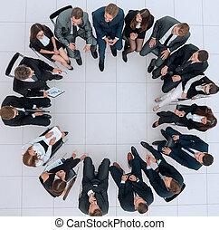 人々, 大きいグループ, ビジネスが会合する, モデル