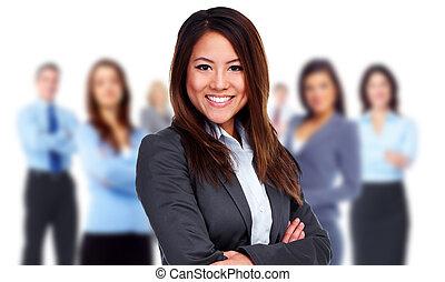 人々。, 女, グループ, ビジネス