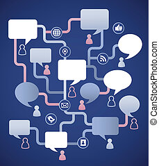 人々, 媒体, イメージ, スピーチ, 社会, 泡