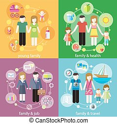 人々, 家族, 子供, 子供, 概念